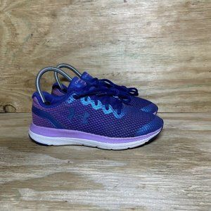 Under Armour Charged Impulse Kids Running Shoes Girls Youth Size 3.5 Blue Purple